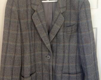 saks fifth avenue wool jacket size 42 8