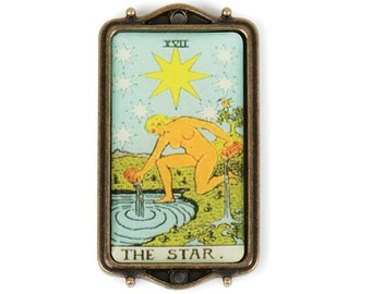 Tarot Card Pendant - The Star (STEAM212)