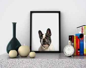 Wallart | White dog animal | Print Wall | Art Decor| Daily Motivation| Poster | Printable| Quote