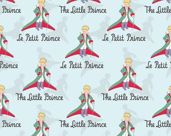 SALE The Little Prince Title Aqua - Riley Blake Designs - Boy Blue - Quilting Cotton Fabric - choose your cut