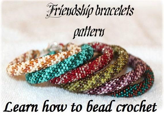 Freundschaft Armbänder Perle häkeln Seilmuster oder Halskette