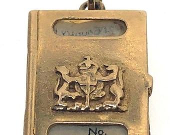 1969 9ct Yellow Gold Passport Charm 3.3g