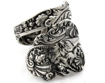 Sterling Spoon Ring Size 6 - 10 Versailles