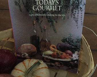 Vintage Cookbook Jacques Pepin Today's Gourmet Light and Healthy Cooking for the 90's