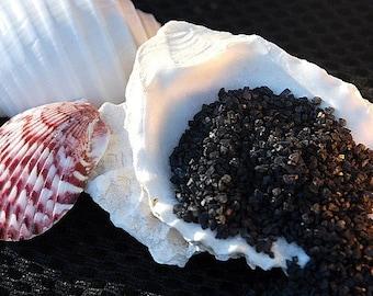 Black salt - gourmet salt - coarse and fine black sea salt sample