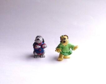 1986 Pound Puppies Pvc Figures Set of 2