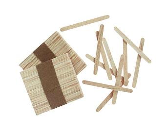 Wood Craft Sticks (Natural), Popsicle Sticks, Back To School, Craft Supplies, 150 pcs