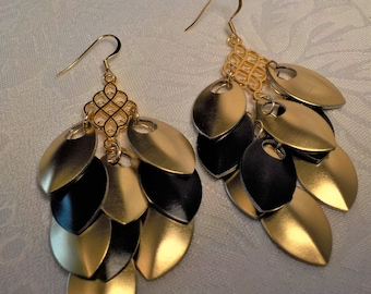 Gold and black dragon scale cluster