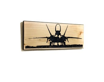F-22 Airplane gift airplane pilot gift airplane gifts airplane decor gift for pilot airplane birthday aviation gift, F-22 raptor front view