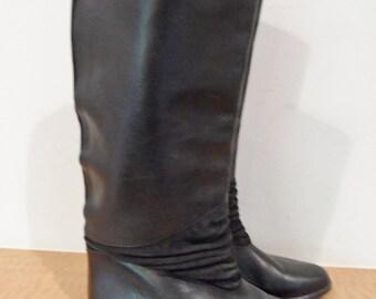 SALE vintage jacqueline ferrar western leather knee high riding boots  size  6