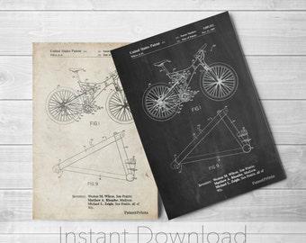 Mountain Bike Printables, Sports Art, Trek Bike, Bike Art, Bike Poster, PP0965
