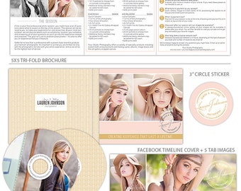 Prof. Written Photography Marketing Set, Photography Marketing Package, Photography Marketing Kit, Marketing Suite Templates MK140A