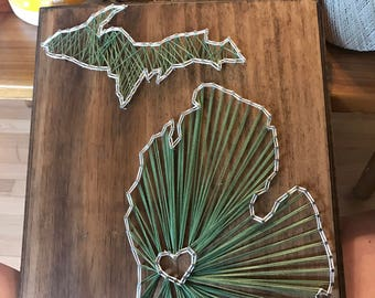 State Of Michigan string art
