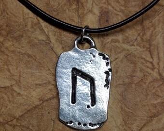 Uruz Strength Norse Rune Charm Men's Viking Rune Necklace