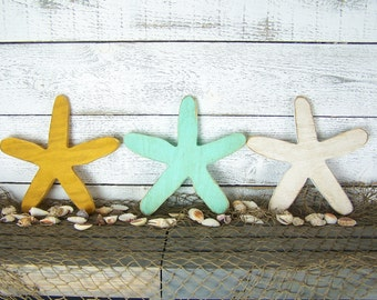 Starfish Wall Decor Starfish Decor Rustic Beach Decor Wall Art Rustic Coastal Decor Beach House Decor Coastal Wall Decor Nautical Home Decor