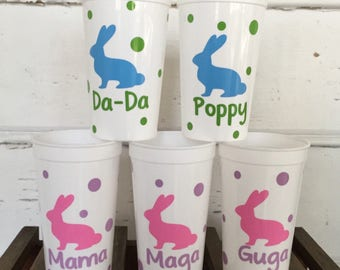 Set of 5-Easter/Class Party Favor Cups- Personalized for your child