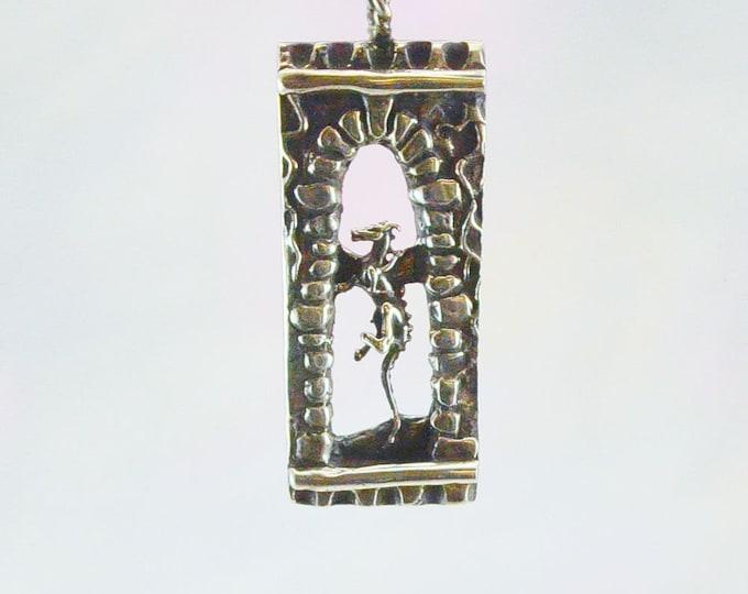 Magical Dragon Fantasy Pendant in Sterling Silver