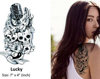 Lucky - Temporary Tattoo