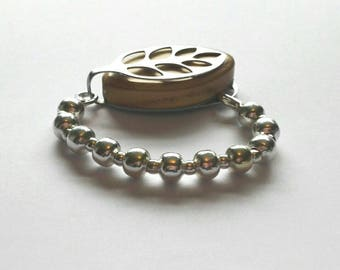 Bellabeat leaf bracelet silver bead bracelet to wear with Bellabeat Leaf, elasticated or on a wire, bellabeat anklet