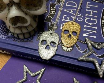 Glitter Skull - Necklace - Halloween