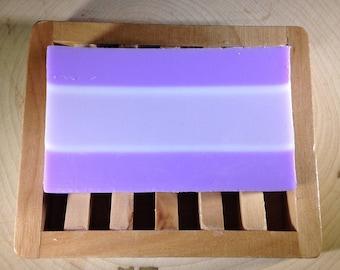 Lavender soap, shea butter soap, handmade natural soap, homemade vegan soap, detergent & paraben free, purple soap bars, glycerin soap
