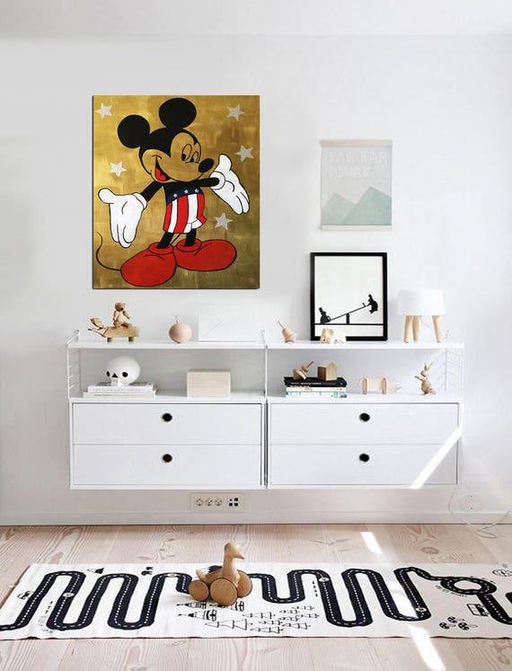 MICKEY Mouse Art Disney Kinderzimmer Walt Disney World Disney