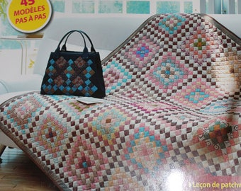 """Book""""Magic Patch Quilt Japan record Editions of Saxony squares"""