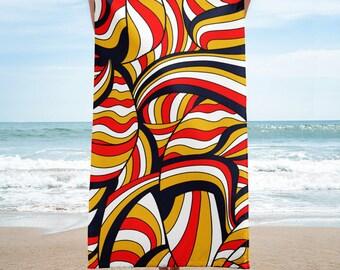 African Style No17, Desert Waves, Beach Towel