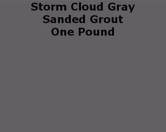 Storm Cloud Gray SANDED Grout - 1 Pound for Walls, Floors, Counter Tops, Backsplashes, Tubs, Showers, Mosaics