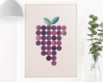 "Bunch of Grapes Giclée Art Print 7 x 5"" / 8 x 10"""