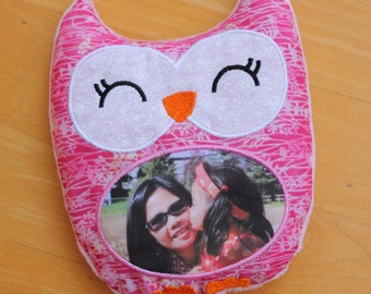 PHOTO heat pack owl, CUSTOM rice pad, get well gift, get well soon,heating,cold pack,unique gift,comfort gift, heat therapy,natural heat pad
