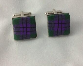 Scottish cufflinks - Scottish gift - Tartan gift - Tartan cufflinks