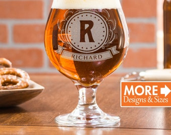 Etched Beer Glass, Customized Tulip Glasses, Gift For Men, Engraved Wedding Tulip Glass, Engagement Gift, Beer Mug, Bar Glasses, Gift Idea