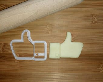 Facebook Like Cookie Cutter / Biscuit Cutter 3D Printed