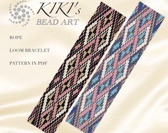 Bead loom pattern - Rope LOOM bracelet pattern in PDF - instant download