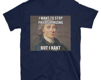 Funny Philosophy Immanuel Kant Internet Meme T Shirt