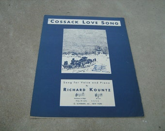 1933  vintage sheet music (  Cossack love song  ) Richard Kountz