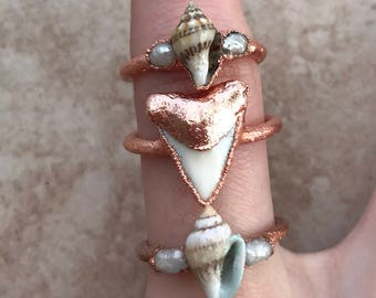 Seashell Ring | Electroformed Copper Jewelry | Handmade
