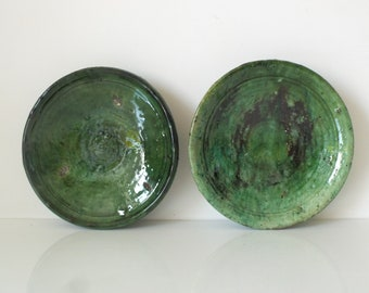 Small plates - pottery Tamegroute (set of 2 - green)