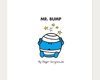 MR BUMP - Mr Men And Little Miss Artwork By Roger Hargreaves Wall Art Picture 10x10'' / 30 x 30cm Made In The UK