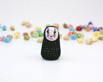 Mini / No-Face / Studio Ghibli / Crochet / Amigurumi / Plushie / Miniature / Doll / READY TO SHIP