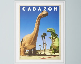 Dinosaurs of Cabazon California travel poster
