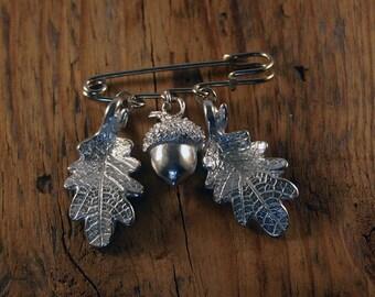 Acorn & Oak Leaf Kilt Pin