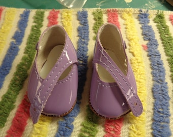 PURPLE Doll Shoes- -Vintage Doll Shoes- Size 4 - Doll Shoes