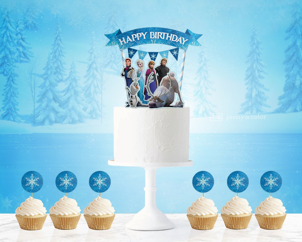 Frozen Cake Topper Frozen Frozen Birthday Frozen Birthday