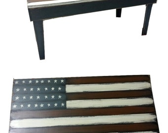 American Flag Coffee Table Living Room Table End Table Americana Decorations