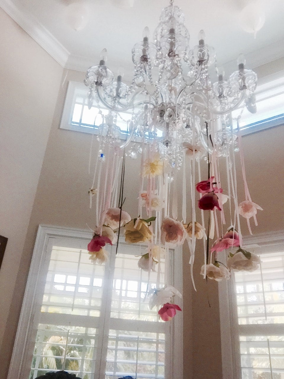 Hanging Upside Down Flowers Easter Decoration Mothers Day Tea