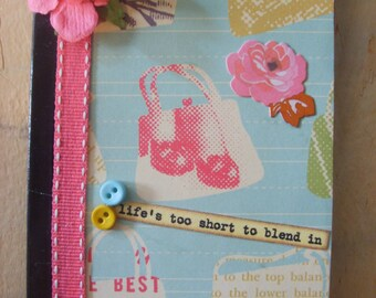 Flowers and Purses Altered Mini Composition Book