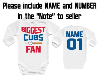 BIGGEST Cubs - Chicago, MLB Baby Vest Baby Bodysuit Funny Baby Child One Piece boy's girl's Clothing girl Kid's Shower Bodysuits t-shirt Top
