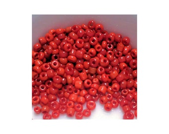 11/0 Shades of Red Mix Seed Beads 5gm